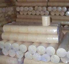 Fuel briquettes of Pini Key from sawdust.