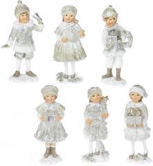 """Набор 6 статуэток """"Дети в ожидании Нового"""