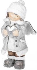 """Фигура """"Ангелочек с серебристым сердцем""""..."""