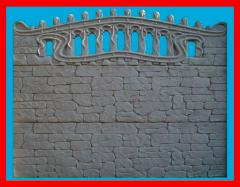 Еврозаборы бетонные, глянцевые заборы от