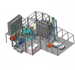 Formula-feed plant of 5-30 t an hour