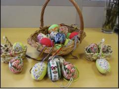 Souvenirs from fabric a patchwork, easter