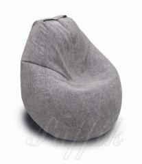 Кресло-груша темно-серая (ткань Фресно)