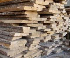 Unedged sawn timbers