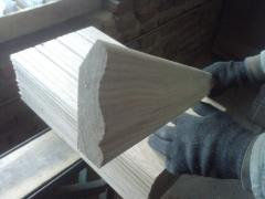Plinth, a galtel, an edge from an oak, an