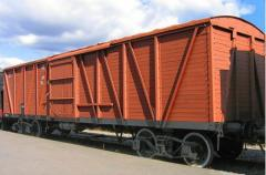 Delivery of freight cars