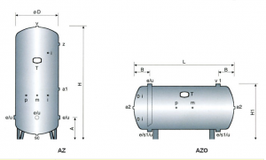 Tanks without isolation zinced for autoclaves (AZ)