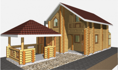 Pair Russians, saunas, baths wooden, houses from