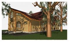 Гостевой дом построить под заказ, деревянный дом