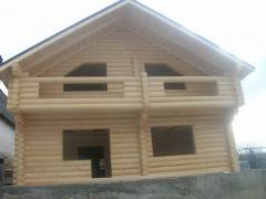 Houses fellings Ternopil, Ukraine, wooden on