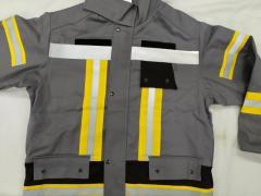 Боевой костюм пожарного из ткани с пропиткой