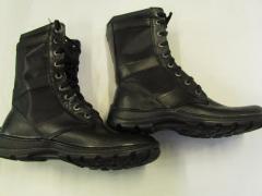 Ботинки (берцы) Л-кожа со вставками подошва пвх