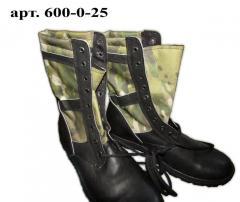 Ботинки «ОМОН-Л кожа» со вставкой облегченные