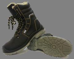 Ботинки кожаные с завышенными берцами на меху