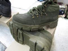 Ботинки тактические летнии цвет олива и...