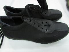 Кроссовки летние форменные на шнурках черные