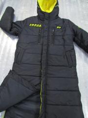 Куртка удлиненная спортивная с капюшоном...