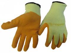 Перчатки VE 730 трикотажные с латексным покрытием