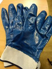 Перчатки нитрильные с крагами