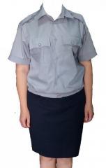 Рубашка форменная серая для сотрудников полиции с