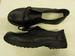 Туфли летнии кожаные клеепрошивные черные на