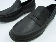 Туфли мокасины черные ПВХ мужские и женские