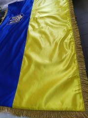 Флаг Украины под заказ с Гербом вышытым