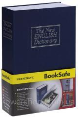 Книга, книжка сейф на ключе, металл, английский