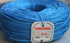 Крученая веревка Мармара (Marmara) из пропилена, д. 2,5 мм, бухта 200 м