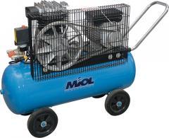 Компрессор масляный с клинорем. передачей Miol «Шторм 600-50» 81-191 + фильтр и ремкомплект