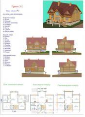 Дом деревянный жилой. Проект 2-2