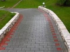 Укладка и производство тротуарной плитки.