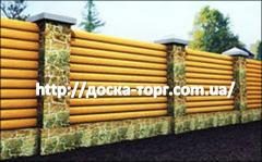 Wooden fence production
