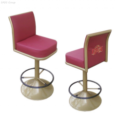 Chairs for a casino,  a chair on a metalframe