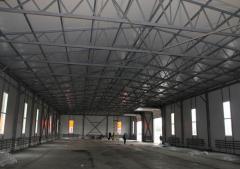 Hangars pryamostenny Kiev, hangars the