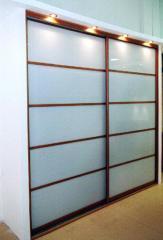 Двери для шкафов купе с сатинированым стеклом