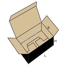 Коробка каталога Fefco 0215 Коробка самосборная с откидной крышкой и складным дном
