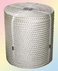 Канат полиамидный капроновый тросовой свивки д.22, цена (купить)
