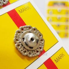 D=18 мм кнопки металлические декоративные для одежды пришивные серый (653-Т-0794)