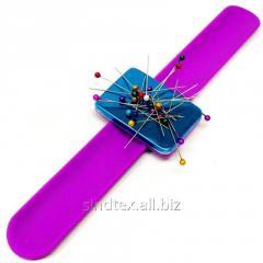 Магнитная игольница на (руку) запястье Sindtex фиолетовая (СИНДТЕКС-0776)