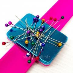 Магнитная игольница на (руку) запястье Sindtex розовая (СИНДТЕКС-0779)