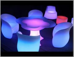 The shining furniture for cafe, bar, restaurant.