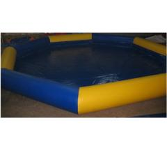 Pool round, inflatable under spheres