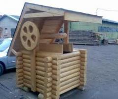 Мебель садово-парковая, скамейки деревянные,