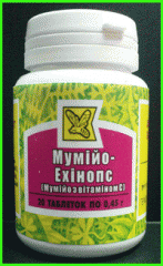 Mumiye-Ekhinops (a mummy with vitamin C), the tab.