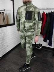 Мужской флисовый камуфляжный костюм