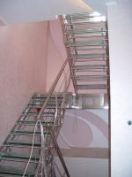 Ladders for the house from a stainless steel