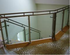 Balcony handrail of c of a stainless steel