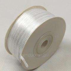 Лента атласная 0,3 см. (3мм) белая (СИНДТЕКС-0780)