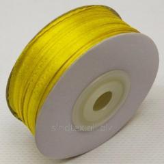 Лента атласная 0,3 см. (3мм) желтая (СИНДТЕКС-0783)